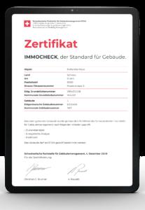 SFGM IMMOCHECK Zertifikat